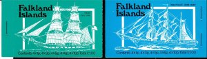 Falkland Islands 1978 Booklets 1,2,3 & 4. Vintage Mail Ships.  Colorful  XF/NH