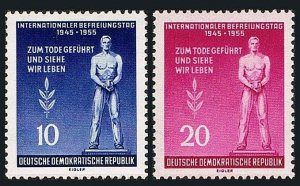 Germany DDR/GDR 236-237, MNH. Monument to the Victims of Fascism, 1955