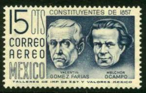 MEXICO C236 15¢ 1950 Definitive 2nd Printing wmk 300 MINT, NH. VF.