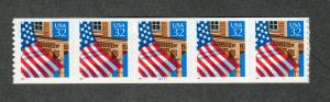 US Sc#2915a M/NH/VF, Rare PNC Strip Of 5 Plate #78777, Cv. $1200