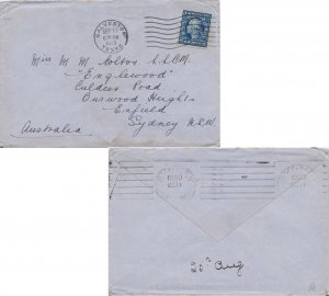 United States Washington Franklins 5c Washington Franklin perfin 1920 Galvest...