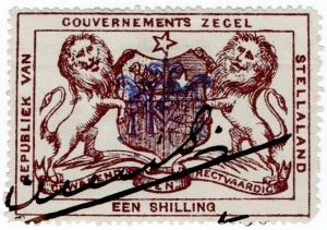 (I.B) Stellaland (Bechuanaland) Revenue : Duty Stamp 1/-