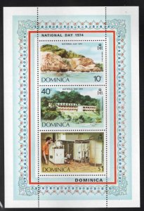 DOMINICA Scott 404a MNH** 1974 National Day souvenir sheet
