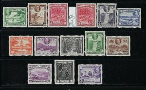 BRITISH GUIANA SCOTT #210-222 1934 GEORGE V PICTORIALS-  MINT LIGHT HINGED