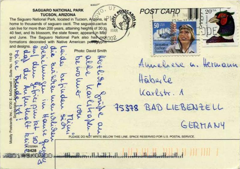 United States Flora And Fauna 2002 Postal History