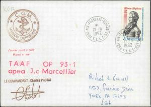 French Southern & Antarctic Territory #210, Antarctic Cachet and/or Cancel