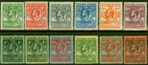 Falkland Islands 1929-36 Penguins set of 12 SG116-126 V.F Lightly Mtd Mint Lovel