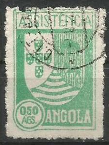 ANGOLA, 1939, used 50c Coat of Arms Scott RA5
