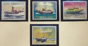 Faroe Islands Stamps Scott #232 To 235, Mint Never Hinged