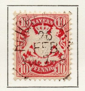 Bayern Bavaria 1876 Early Issue Fine Used 10pf. NW-120715