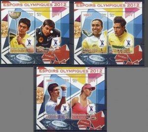 PE199-201 2012 MALI OLYMPIC GAMES LONDON FOOTBALL STARS NEYMAR 3BL MNH