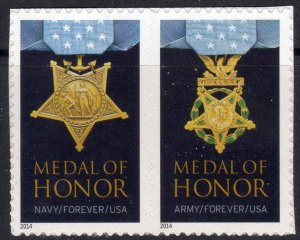 2014 Scott #4822-4823 Forever Army and Navy Medal of Honor  MNH