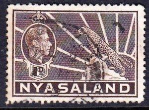 Rhodesia and Nyasaland, #55, 1938-1944,Used