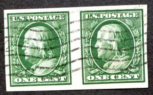 383 1c Franklin Pair Used VF