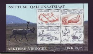 Greenland Sc 361a 2000 Arctic Vikings stamp sheet mint NH