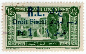 (I.B) France Colonial Revenue : Lebanon Duty 1ps on 1.25Fr OP