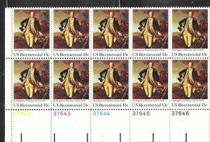 US#1704 13c Washington at Princeton  PB of 10 (MNH) CV $2.75