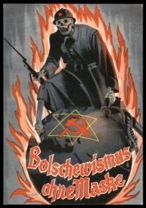 Germany 1939 Anti-Communist Bolschewismus Mask Russian Death Head Stamp Se 88282