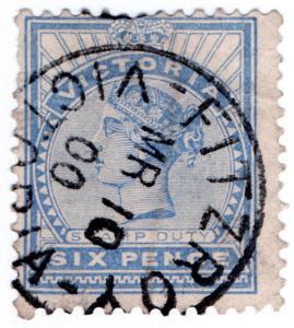 (I.B) Australia Postal : Victoria Postmark (Fitzroy)