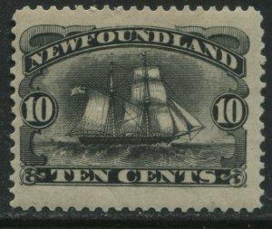 Newfoundland 1887 10 cent black mint o.g. hinged