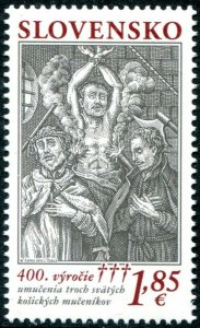 HERRICKSTAMP NEW ISSUES SLOVAKIA 400th Anniv. Martyrs of Kosice