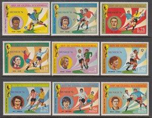 Equatorial Guinea 7451-7459 Soccer MNH VF