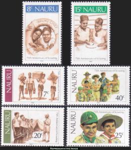 Nauru Scott 244-249 Mint never hinged.