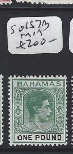 BAHAMAS (P0906B) KGVI  L1   SG 157B   MOG