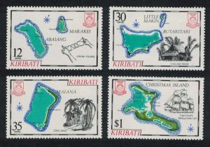 Kiribati Captain James Cook Islands 1st series 4v SG#145-148 SC#369-372