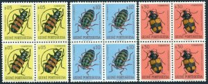 Portuguese Guinea 281-283 blocks/4,MNH.Michel 281-283. Beetles 1953.