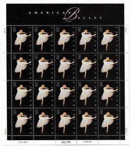 USA 3237 MNH SHEETS BALLET