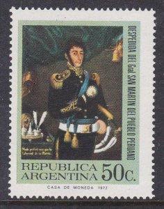 Argentina #1001 single F-VF Mint NH ** San Martin