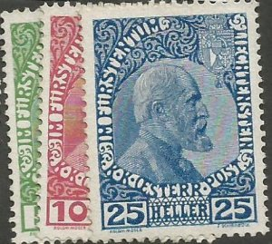 LIECHTENSTEIN (1912) MLH Scott #1-3 MICHEL 1-3 Very Fine Set