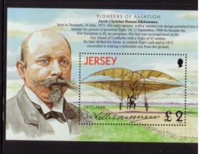 Jersey Sc 1069 2003 biplane stamp sheet mint  NH
