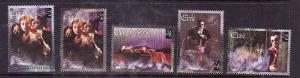 Ireland-Sc#1087a,1089a-unused NH stamps from souvenir sheets-Bram Stoker's Dracu
