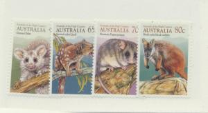 Australia Scott #1166 To 1169, Fauna of the High Country Issue From 1990 - Fr...