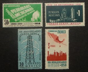 Mexico 903-04, C243-44. 1958 Oil Industry Nationalization, NH