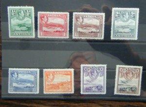 Antigua 1938 - 1951 set to 1s MM