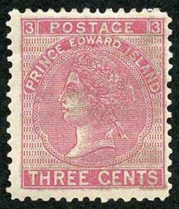 Prince Edward Is  SG37 3c Rose M/M Cat 45 pounds