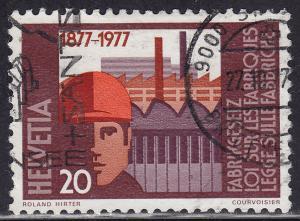 Switzerland 629 USED 1977 Worker & Factories 20c