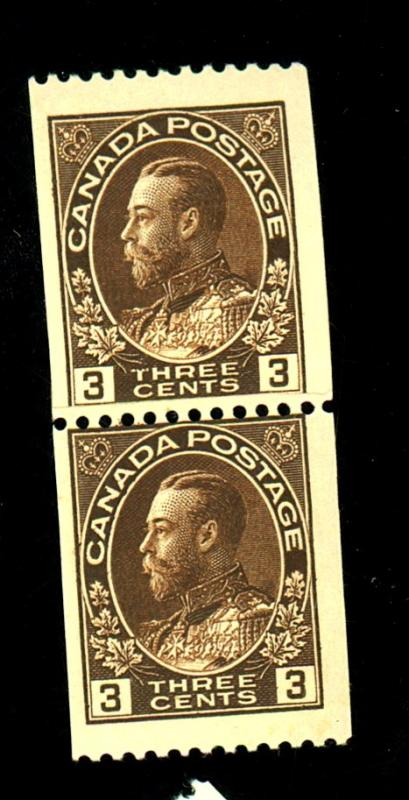 Canada #134 MINT Paste Up Pair F-VF OG NH Cat $50+