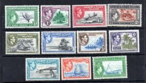 Gilbert & Ellice KGVI 1939 LHM set to 2s 6d #43-53 WS12734