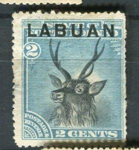 NORTH BORNEO LABUAN; 1890s classic Pictorial issue fine used 2c. value