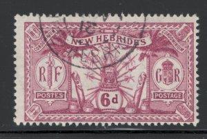 British New Hebrides 1911 Native Idols Scott # 22 Used