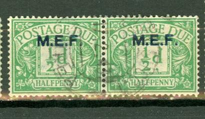 Great Britain Middle East Forces J1 used horizontal pair ...