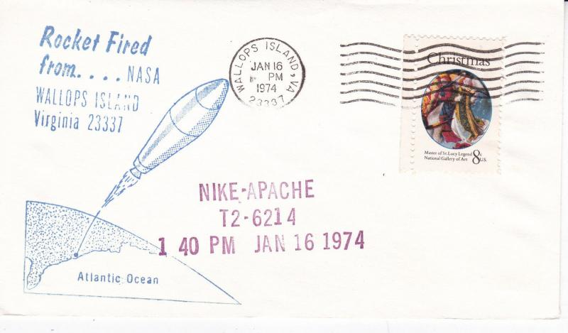 United States 1974 Wallops Island Nike-Apache Cover Unadressed VGC