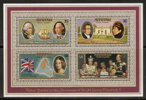 Aitutaki 151a 1977 25th Queen s.s. NH