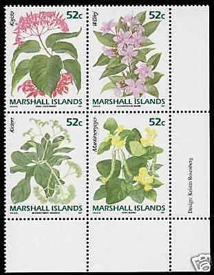 Marshall Islands 398b Bottom Right MNH Flowers