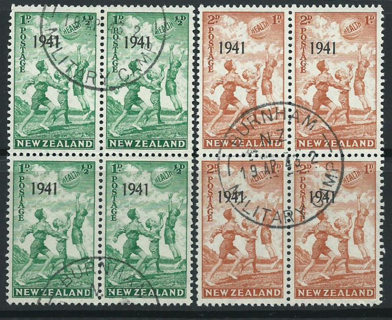 New Zealand SG 632 & SG 633  Blocks of 4 Very Fine Used