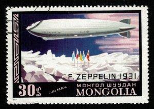 1977, Zeppelin, Mongolia, 30T (RT-1310)
